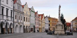 Ubytování v Třeboni - náměstí